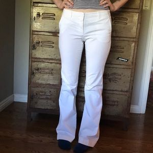 White flare low rise pants by Theory